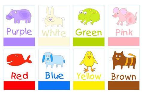 learning colors for toddlers printable color poster for preschool printable preschool