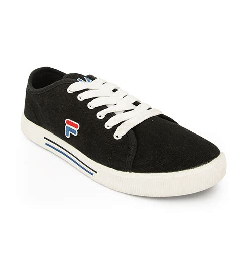 fila shoes fila black canvas shoes available at snapdeal for rs 1190