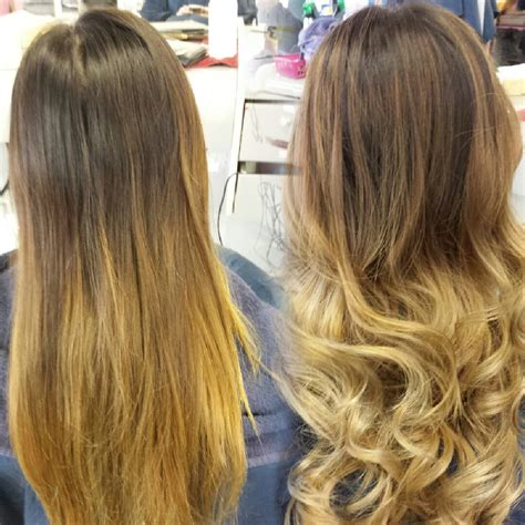 balayage highlights before and after home kit before and after balayage highlights ombre by ann yelp