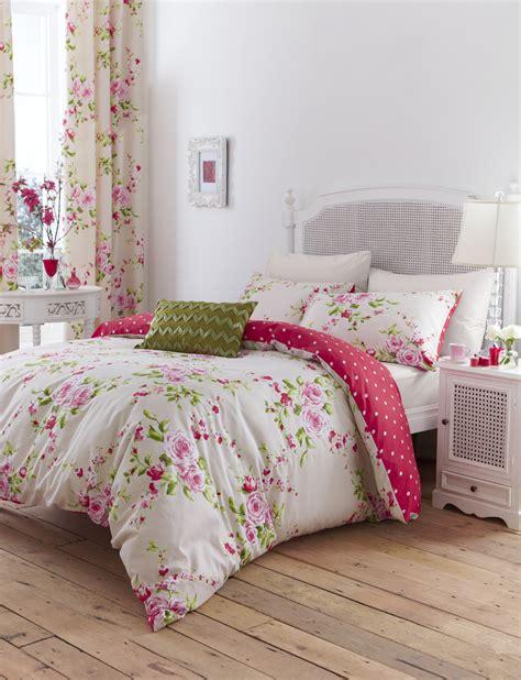 catherine lansfield catherine lansfield canterbury floral duvet set polka dot reversible quilt cover ebay