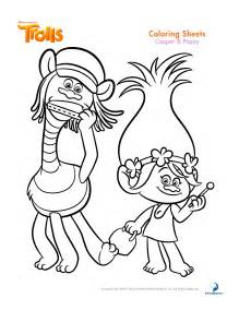trolls coloring sheets printable activity sheets movie review