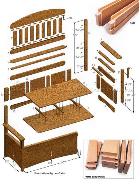 deacon bench plans bench plans deacons bench wood