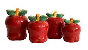 Apple Kitchen Canisters red apple kitchen storage canisters red kitchen accessories