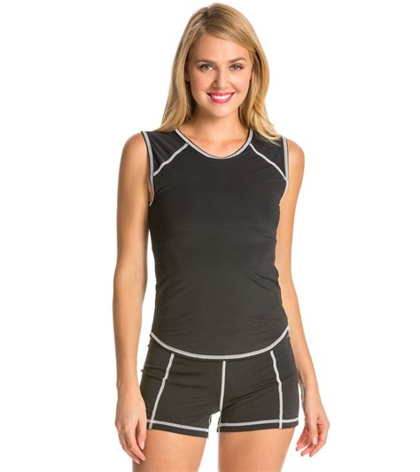 girls4sport sleeveless rashguard with shelf at