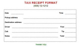 Taxi Fare Receipt Template Printable Fake Taxi Bill Format In Word Excel Templates