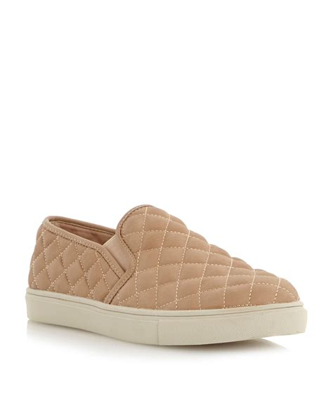 Steve Madden Quilted Slip On Sneakers by Steve Madden Ecentricq Sm Quilted Slip On Shoes In