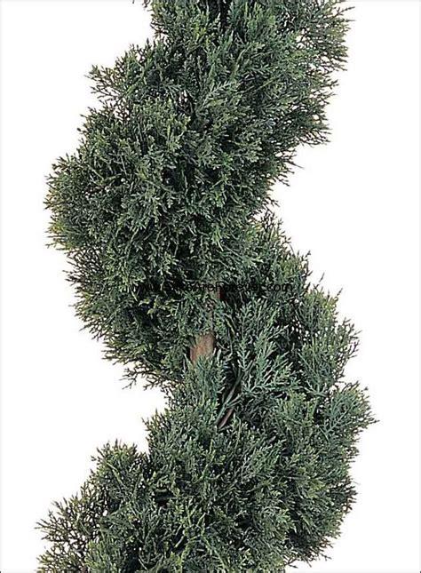 spiral topiary tree 5 cedar spiral artificial topiary tree w pot indoor outdoor