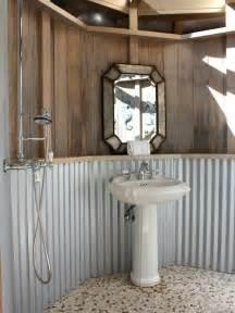 Galvanized steel bathroom home design ideas pictures