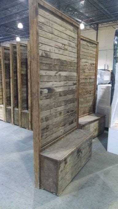 wood partition wall vintage pallet wood divider wall marquee rents party