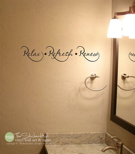 bathroom vinyl wall 1000 ideas about bathroom wall sayings on pinterest