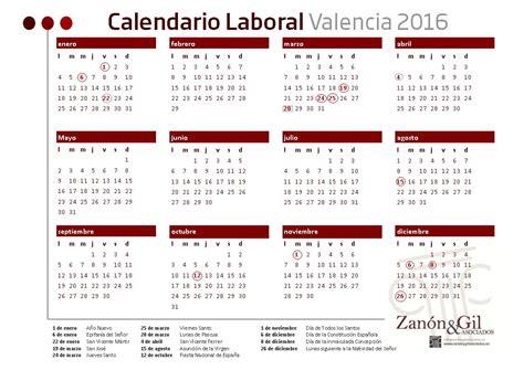 Calendario Es Calendario Laboral 2016 Valencia Abogados En Valencia