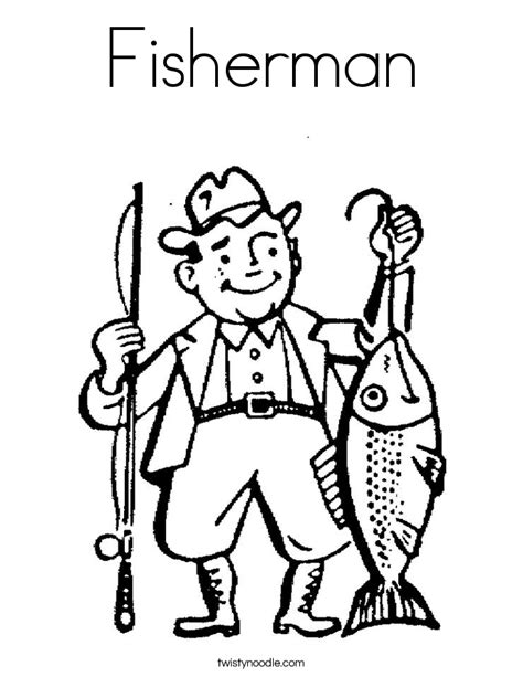 Fisherman Coloring Pages fisherman coloring page twisty noodle