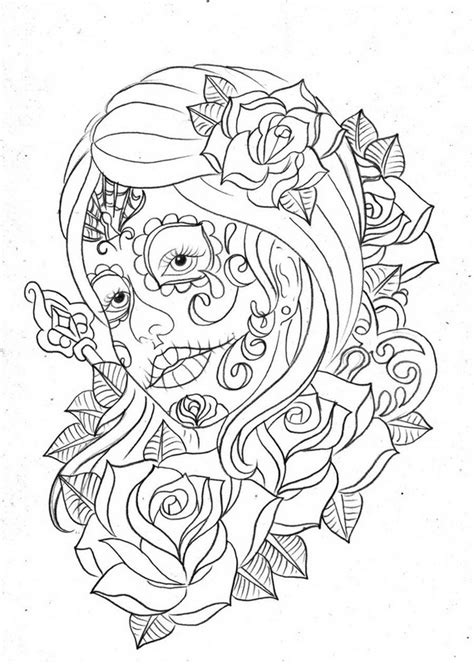 coloring pages for day of the dead day of the dead coloring and craft activities family