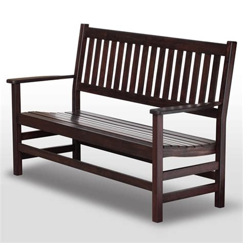 plantation bench plantation 61 slatted wood bench mahogany stain dcg