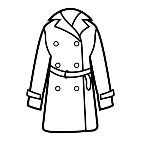 coat coloring pages