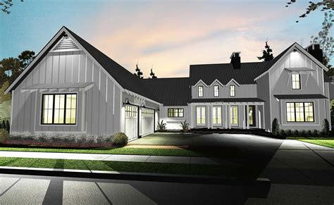 modern farmhouse floor plans architectural designs