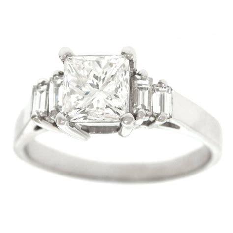 princess cut 1 81 carat and platinum engagement