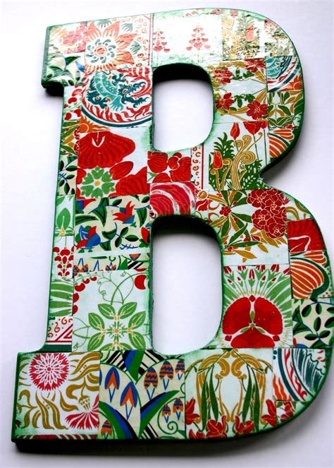 How To Make Decoupage Letters - large decoupage wood letter b b is for barbara