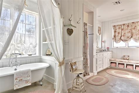 shabby chic bathroom towels 22 floral bathroom designs decorating ideas design