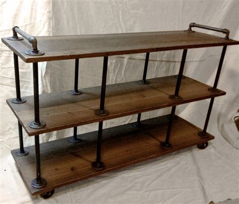 Kitchen Island Legs Unfinished by Industrial Tv Stand Iron And Wood For 46 To 52