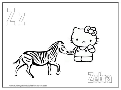 hello kitty zebra coloring page free coloring pages of hello kitty zebra