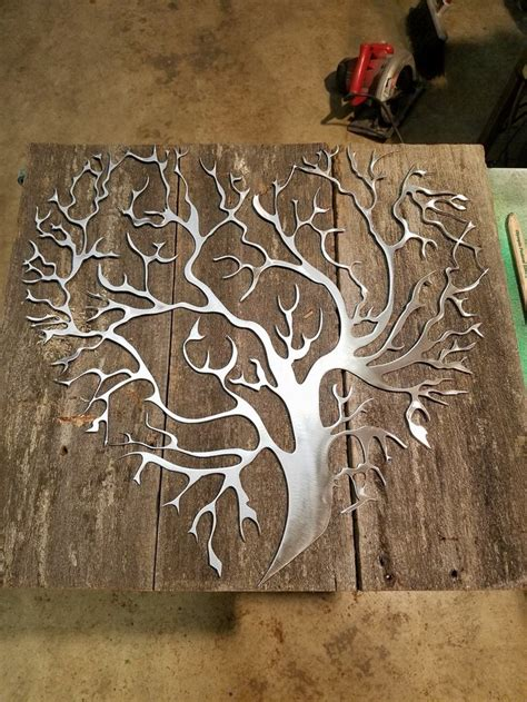 idea for wood metal mix decorations 25 best ideas about metal tree on pinterest mailbox