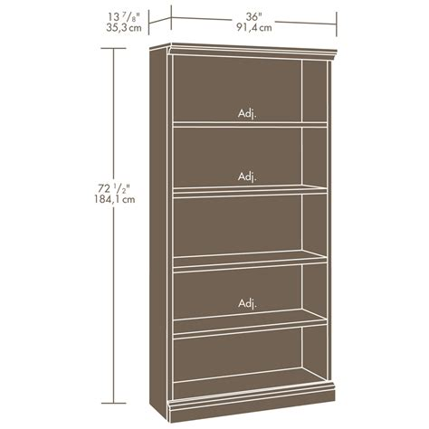 sauder select estate black library bookcase 412177