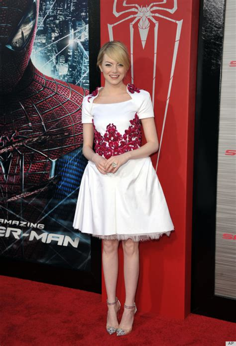 emma stone childhood photos emma stone in chanel wows at amazing spider man premiere