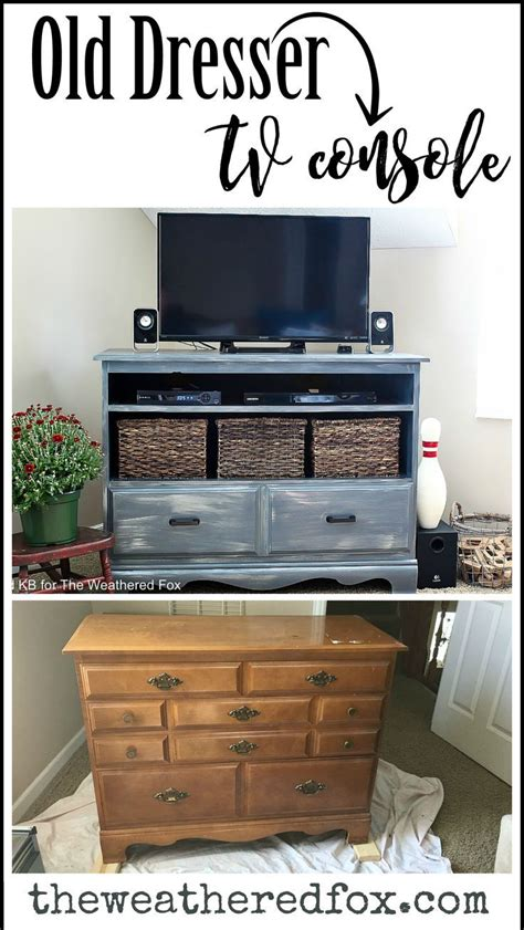 bedroom tv stand ideas best ideas about dresser tv stand furniture redo also
