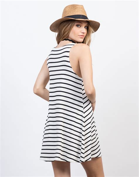 dress anak casual striped casual striped tank dress black white stripe dress
