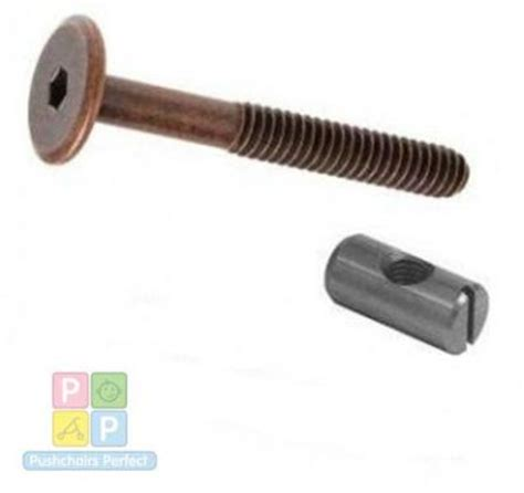Barrel Nuts For Bunk Beds 4 Of M6 X 90mm Bronze Bed Bolts With 14mm Barrel Nuts Cot Cot Bed Furniture Ebay
