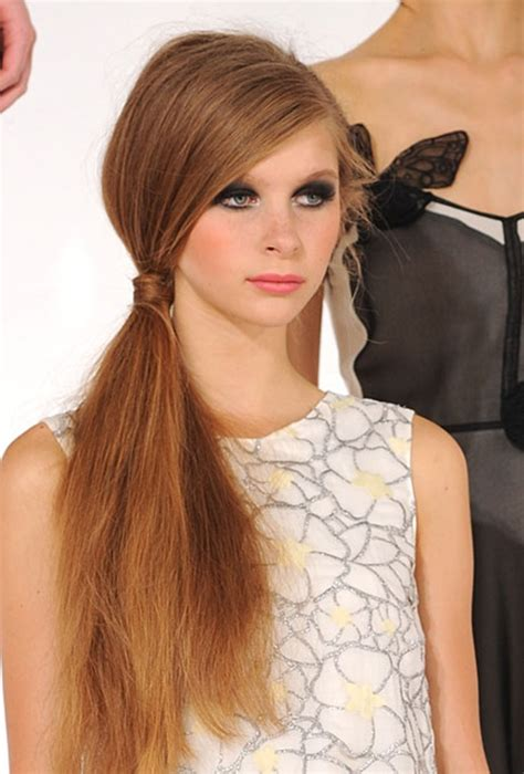 ponytail hairstyles 2013 14 low ponytail hair trend fashion trends reports ponytail hairstyles 2013 14 low