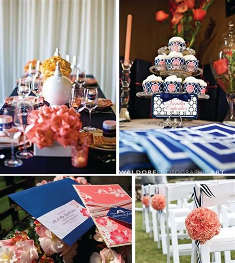 Navy Blue And Coral Wedding Decorations by 101 Best Navy And Coral Wedding Images On