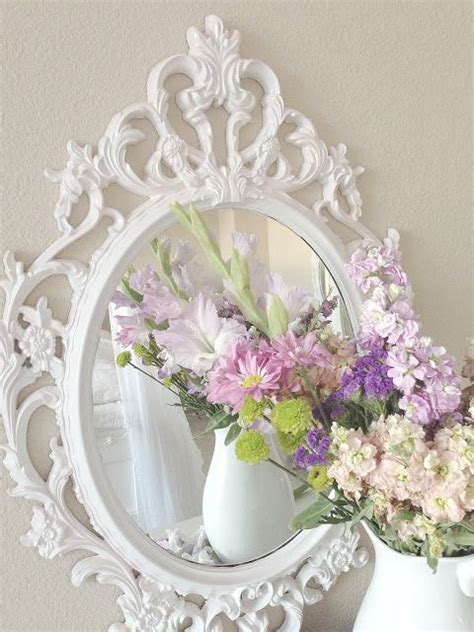 shabby chic spray paint i this mirror i can spray paint it when we move so it better suits a co ed house decor