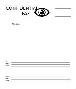 Confidential Cover Sheet Template by 10 Basic Fax Cover Sheet Templates Free Sle Exle