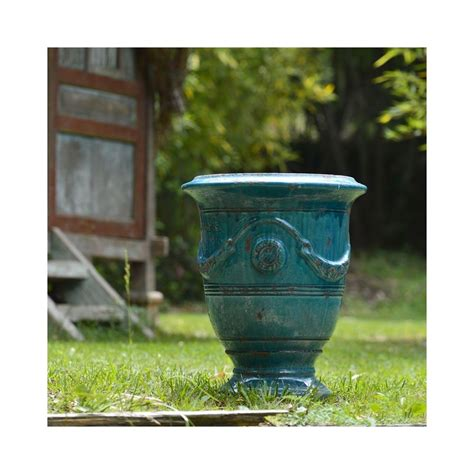 Poterie La Madeleine by Vase Anduze Patin 233 Turquoise Poterie Madeleine