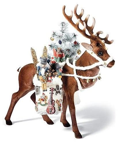 christmas decorations with deer head pic deer with tree santa figure decorations traditional decorations by