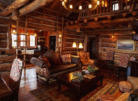 Interior Log Homes Bigsky Montana Guest Cabin Lohss