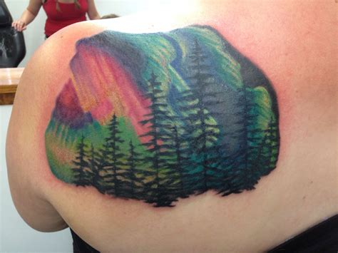 northern lights tattoo northern lights done at line in topeka