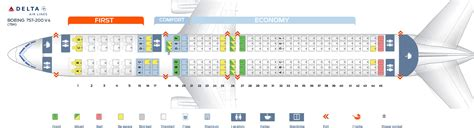 Icelandair 757 Seat Map Airplanes by Seat Map Boeing 757 200 Delta Airlines Best Seats In Plane
