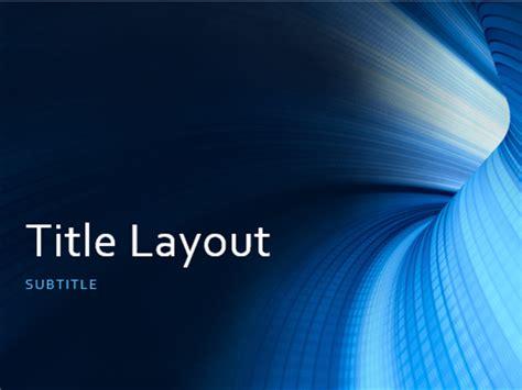 Business Digital Blue Tunnel Presentation Widescreen Office Templates Microsoft Powerpoint Templates Widescreen
