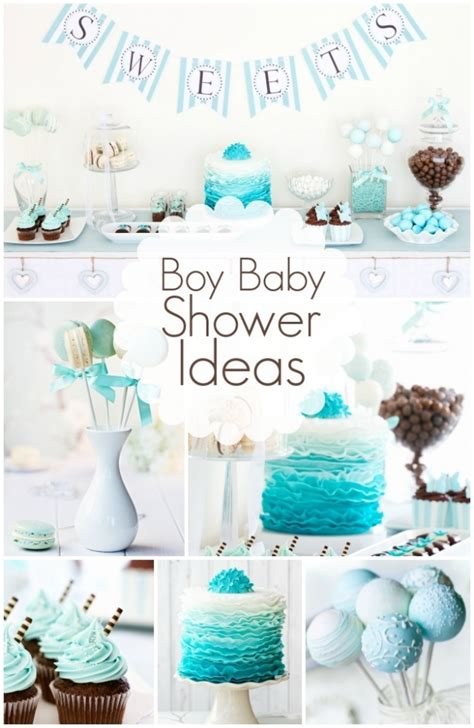 sweet boy baby shower ideas teal colors baby blue and teal