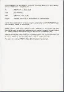 Retirement Announcement Templates by Retirement Announcement Letter Template