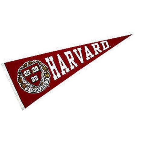 harvard school colors harvard seal pennant your harvard seal pennant flag