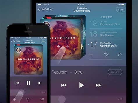 music layout on iphone music player app for ios psd file download download psd