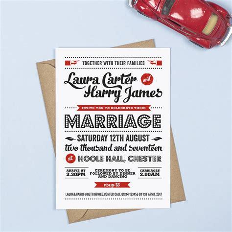 Retro Wedding Invitations retro vintage wedding invitation by project pretty