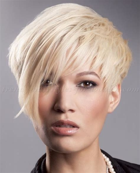 asymmetrical hairstyles for older women short hairstyles with long bangs short asymmetrical