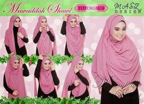 tutorial hijab labuh shawl labuh halfmoon mawaddah cantik limited edition