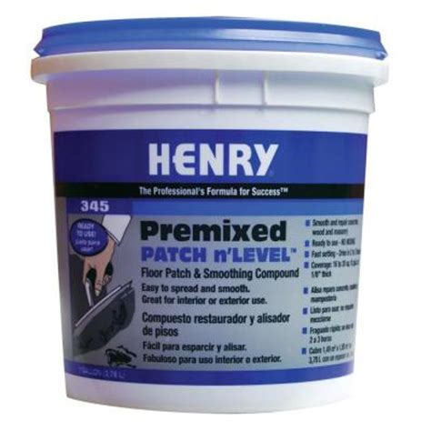Home Depot Floor Leveler henry 345 1 gal premixed patch and level 12064 the home depot