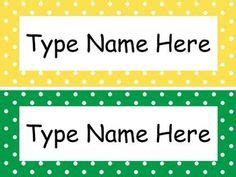 Template For Student Desk Name Cards Free Black And White by Name Plates Clipart 38